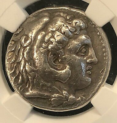 Philip III Macedon 323-320BC  Ancient Greek Silver Tetradrachm NGC Ch VF 17.13g