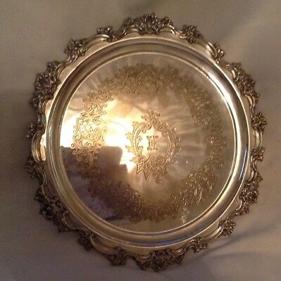 Antique Mappin & Webb's Princes Plate Serving Tray Circa 1899