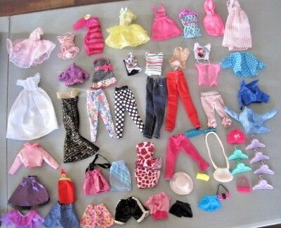 Large Lot (B) of Barbie Doll Size Clothes & Accessories 50+ Pieces