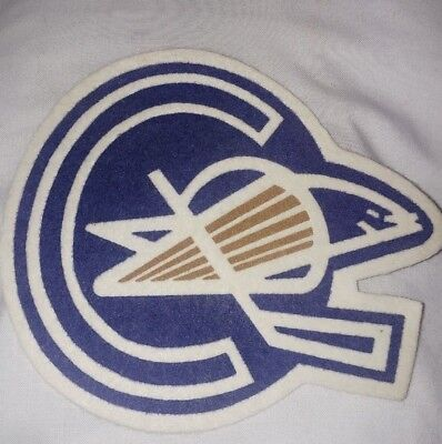 "Oakland Seals Ice Hockey Nhl Sew On Crest 5 1/2"" By 5 1/2"" Defunct 1960's"