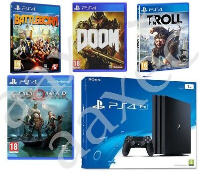 PS4 Pro Playstation 4 Pro 1TB + God of War + 3 Games *BRAND NEW SEALED*