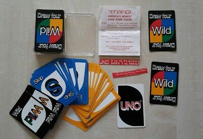 Vintage UNO Playing Cards USA 70 er Jahre International Games Made in Hong Kong