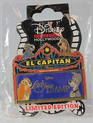 Disney DSF DSSH Lady and the Tramp El Capitan Theatre Marquee LE 300 Pin