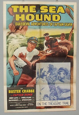 The Sea Hound (1947)  27X41 Buster Crabbe, Jimmy Lloyd, CHAPTER 10  VG, 00097