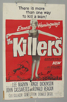 The Killers (1964)  Lee Marvin, Angie Dickinson, VG 27X41  00187 RARE