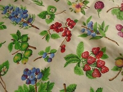 Vintage Fabric - Cotton, Springs Industries, Mixed Berry Pattern