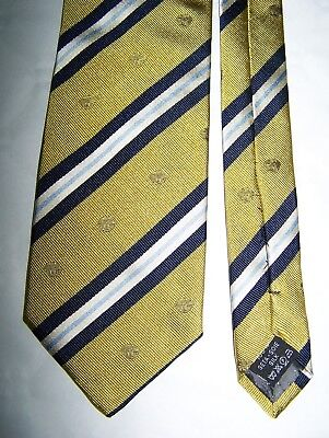 "Cravatta ""Gianni Versace"" 100% Regimental Tie Made In Italy Vtg 90"