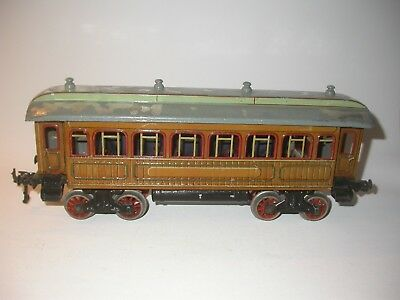Bing 10/534? Scale 1 Person wagon with interior, teak brown.