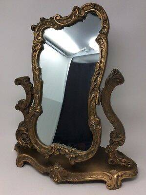 Antique Atsonea Gilt Gesso Dressing Table Mirror H48 x L41 x W20 cms