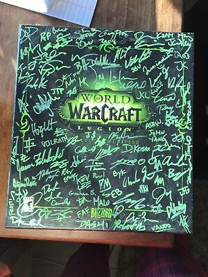 Blizzard Entertainment New Team Signed Legion Collectors Edition World Warcraft