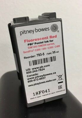 PITNEY BOWES 793-5 Red Ink Cartridge, DM100, DM200, Send Pro C Series
