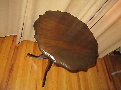 "Rare Oak Tilt Up Tea Table 21"" wide and 27"" high in great shape"