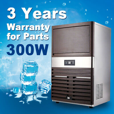 Commercial Ice Maker 330W Machine Icemaker Air Cooled Cude Stainless Steel Quick