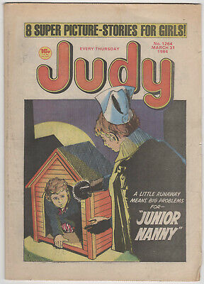 JUDY Girls Comic 31st March 1984 Number 1264 32 Pages - Vintage