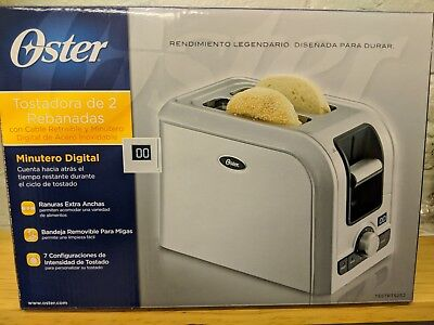 oster 2 slice 750 w Stainless Steel toaster