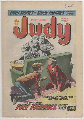 JUDY Girls Comic 9th June 1984 Number 1274 32 Pages - Princess Diana Pictures