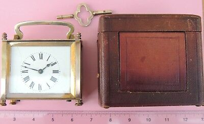Antique Carriage Clock in Original Case, complete with glass pane