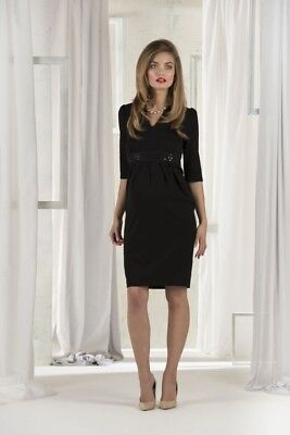 Madderson London Coco Maternity Dress Black New With Tags Size XS/8-10 UK