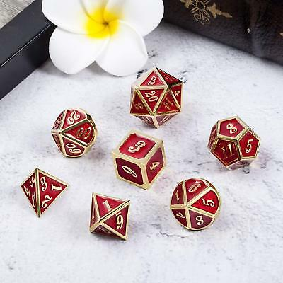 Puzzle Role Playing and Tabletop Games Metal Polyhedral Dice DND RPG MTG  7pcs