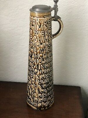 German Beer Stein With Lords Prayer in German (Vater Unser) from the 1960's
