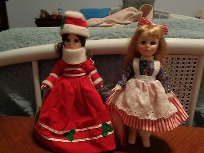 Pair of Vintage Effanbee Dolls Betsy Ross and Christmas