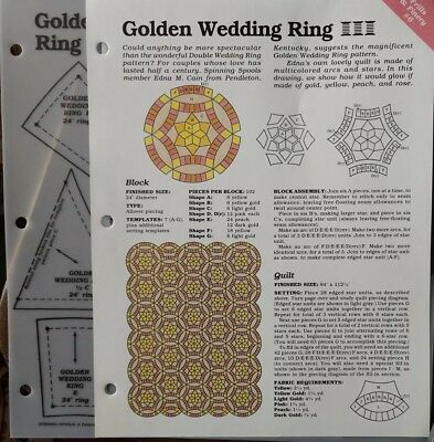 Golden Wedding Ring Quilt Block Spinning Spools Quilt Pattern