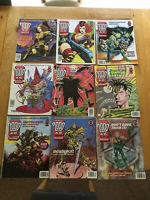 Bundle Of The Best Of 2000AD Monthly 9 Issues From Sept 1993 - June 1994