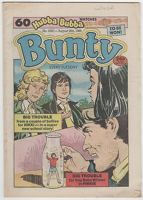 BUNTY Girls Comic 26th August 1989 Number 1650 32 Pages - Vintage