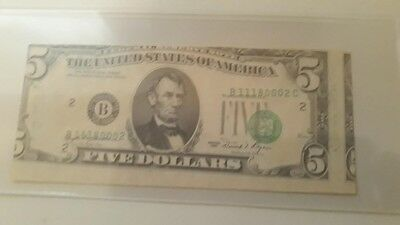 Really messed up misaligned and miscut 1981 U.S. $5 note obverse error!!!!