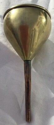 Antique Brass Funnel With Copper Spout, Brewing Beer, Wine Makers Tool