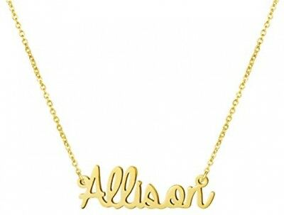 b244ce9cf Yiyang Name Necklace For Women 18K Gold Plated Stainless Steel Personalized  For
