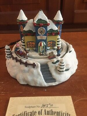 Hawthorne Village Rudolph's Xmas Town Misfit Toy Shop Animated Sculpture