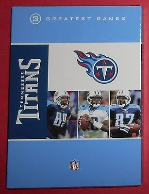 Tennessee Titans - 3 Greatest Games - 3 Disc DVD Set - Never Used