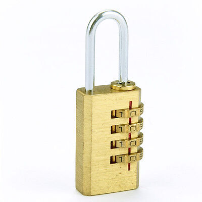 Mini 4 Digits Password Code Lock Combination Padlock Resettable for Gate Bags