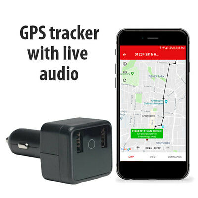 Logistimatics Car Charger Tracker with Live Audio