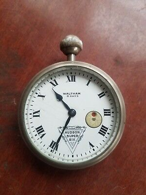 Waltham 8 day Hudson Super Six automobile car clock for parts or restoration