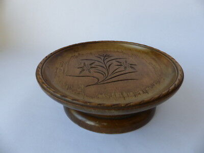 Antique  Carved Wood  Black forest Musical  Fruit Bowl