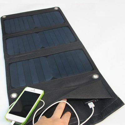 5V 15W Solar Power Charging Panel Dual USB Charger For Mobile iPhone Tablet NEW