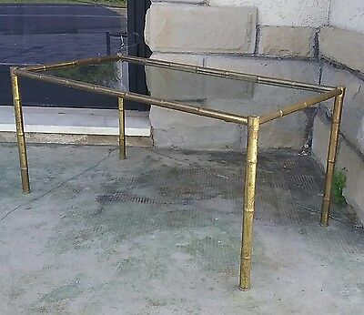 Tavolino 50' Vetro Ottone Brass Glass Coffe Table