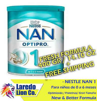 1 NESTLE NAN OPTIPRO 1 FORMULA - BOTE 400g (14.10 oz) CAN - ENVIO GRATIS
