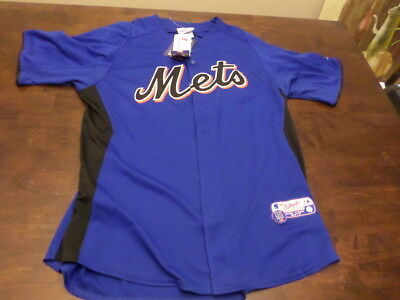 New York Mets New NWT MLB Majestic Cool Base mens jersey Large
