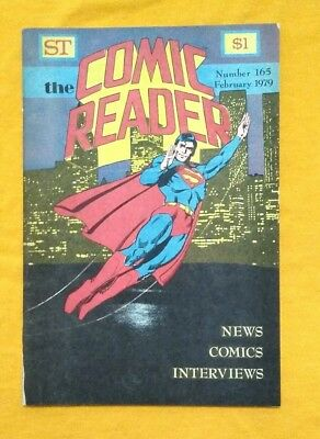 Comic Reader #165 February 1979 Jerry Ordway Superman cover