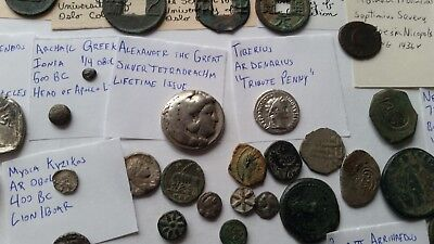 HUGE Ancient coin collection Greek Roman Islamic India AE Silver Gold Lot 90 pcs