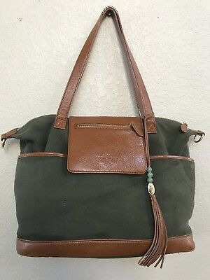 f5a52b567b4f Lily Jade Backpack and Purse Leather Forest Green Madeline Diaper Bag