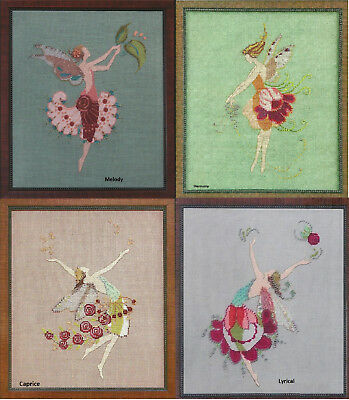 Set of 4 of the Muse Fairy Collection - Cross Stitch Chart - Digital Format