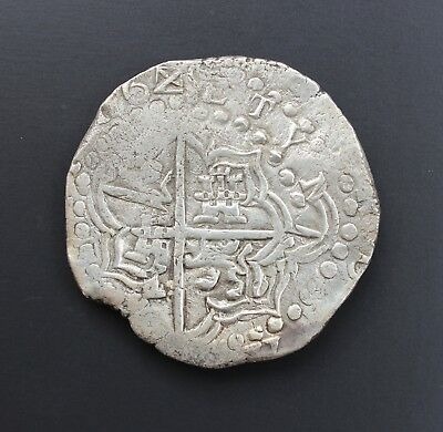 ATOCHA Authentic Silver Coin, Grade 1, 8 Reales, RARE partially dated x62x-1622