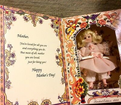 "Marie Osmond 1993 Greeting Card Special Wishes To My Mother 5.5"" Porcelain Doll"