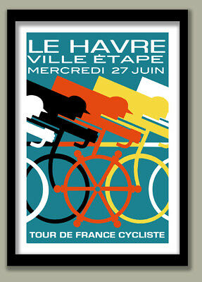 Art Deco Cycling Poster  Vintage 1920 Tour de France. Large A2 (60x40 cm) print