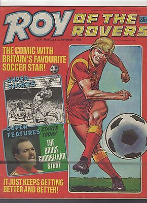 (-0-) ROY OF THE ROVERS COMIC 15TH NOVEMBER 1986 with Doctor Who Rare ADVERT