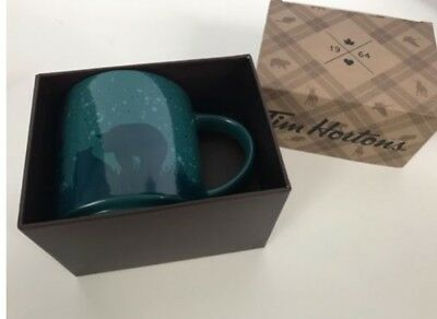 NEW IN BOX Tim Horton's 2017 Holiday Coffee Mug Cup BEAR, Limited Edition